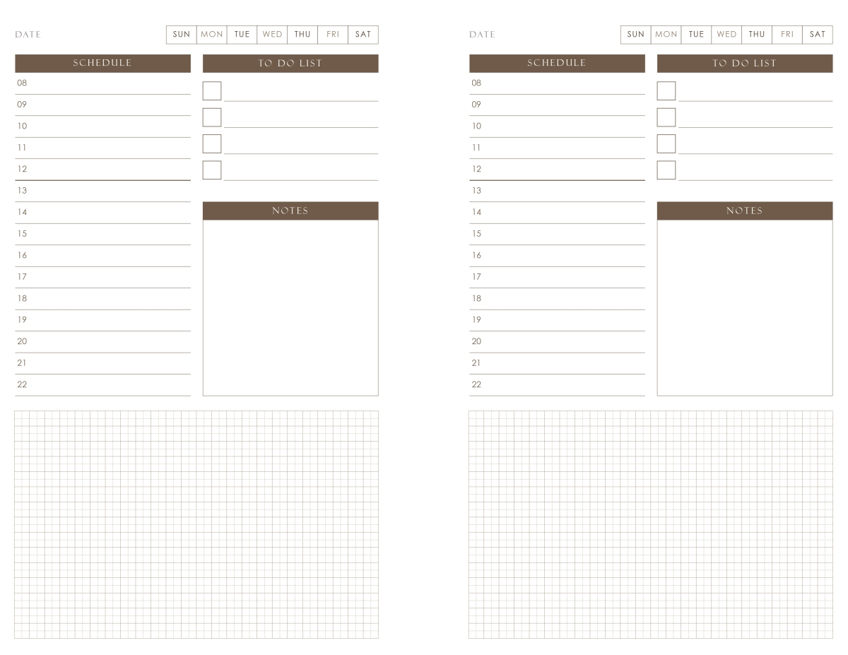 Planner Pad Template   Template Duplex Printing 2欄 Happyearth Notebook